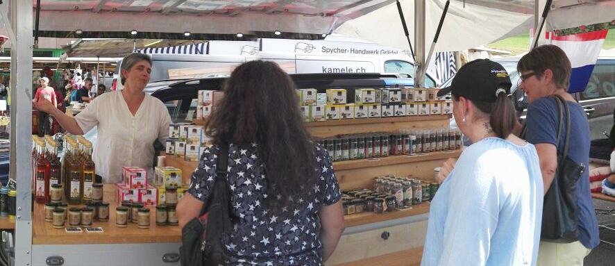 Marktstand Swiss Alpine Herbs