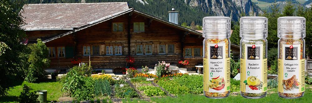 Swiss Alpine Herbs Kräutersalzmühlen